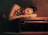 烛光下 布面油画 - 12460 - 中国油画 - 2005秋季大型艺术品拍卖会 -收藏网