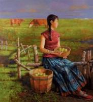 微风 布面 油画 - 高虹 - 中国油画 - 2006秋季艺术品拍卖会 -收藏网