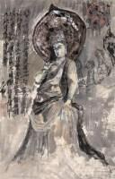 佛像 镜心 设色纸本 - 王乃壮 - 迎春艺术品专场(一) - 2007迎春艺术品专场拍卖会 -收藏网