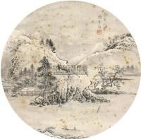 山水 立轴 绢本 - 陈少梅 - 扇画小品专题 - 庆二周年秋季拍卖会 -中国收藏网