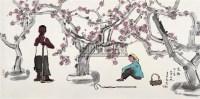 家乡又一春 镜心 设色纸本 - 张立柱 - 近现代书画 - 2007秋季中国书画名家精品拍卖会 -收藏网
