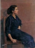 1956年作 蓝裙子 -  - 油画 水彩画 - 2007年春季艺术品拍卖会 -收藏网