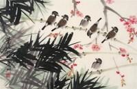 竹雀图 镜心 设色纸本 - 叶绿野 - 中国书画 - 2006秋季拍卖会 -收藏网