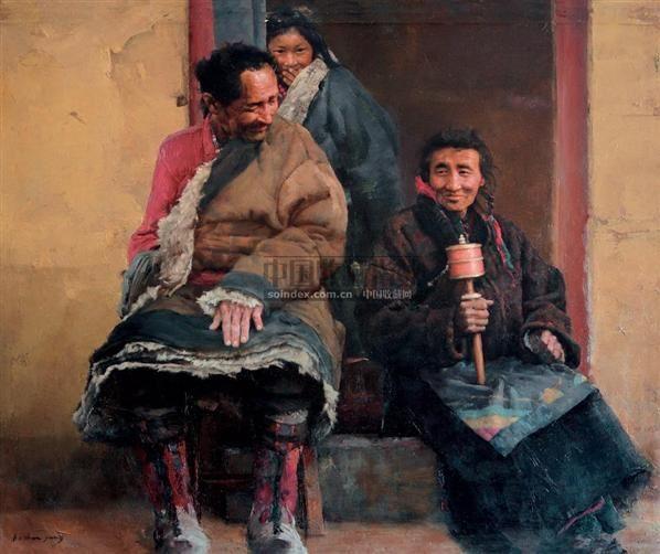 杨克山 (1944年生)老夫老妻 - - 唯美抒情 中国油画与雕塑 - 2