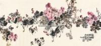 富贵吉祥图 镜片 - 骆孝敏 - 中国书画 - 2011年春季艺术品拍卖会 -收藏网