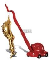 奔向幸福 材料:铜 - 陈文令 - 中国油画雕塑 - 2007春季艺术品拍卖会 -收藏网