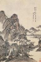溪山漫舸 立轴 设色纸本 -  - 中国古代书画 - 2006秋季拍卖会 -收藏网