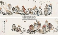 十八罗汉 - 程宗元 - 中国书画 - 2011年江苏景宏国际春季书画拍卖会 -收藏网