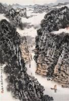 蜀江帆影 立轴 设色纸本 - 宋玉麐 - 中国当代书画 - 2006春季大型艺术品拍卖会 -收藏网
