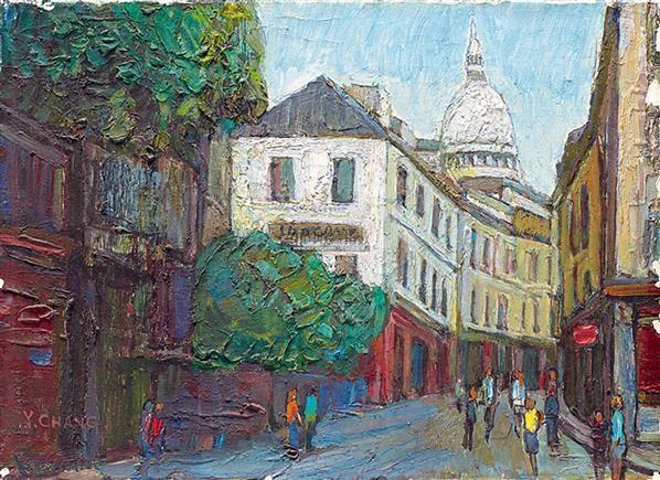 欧洲街景 油彩 画布 - 156693 - 华人当代艺术与雕塑 - 2011秋季拍卖