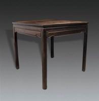 红木素八仙桌 -  - 明清古典家具专场 - 明清古典家具专场拍卖会 -收藏网