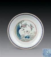 清乾隆 粉彩鸳鸯福寿盘 -  - 瓷杂专场 - 2006年秋季拍卖会 -中国收藏网