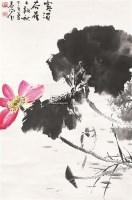 荷花 立轴 设色纸本 - 119597 - 中国书画 - 北京康泰首届艺术品拍卖会 -收藏网