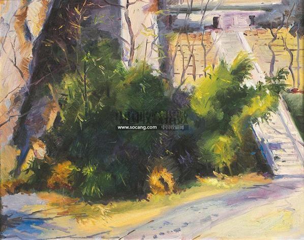 孙膑书屋 布面油画 -  - 油画之光—油画专场 - 北京康泰首届艺术品拍卖会 -收藏网