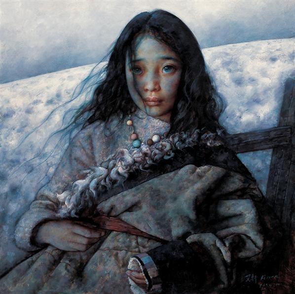荒原雪后 布面  油画 - 6025 - 现代中国艺术 - 2006秋季拍卖会 -收藏网