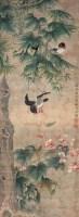 花鸟 立轴 设色绢本 - 沈荃 - 中国书画 - 四季拍卖会(第58期) -收藏网