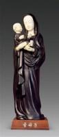 紫檀象牙雕圣母子像 -  - 美玉尚品---玉雕大师作品专场 - 大师荟萃 异彩纷呈—当代传统工艺大师优秀作品拍卖会 -中国收藏网