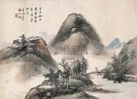 杨伯润(1837-1911)秋山苍润图 - 5999 - 中国书画(二) - 2007秋季艺术品拍卖会 -收藏网