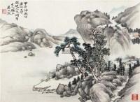 溪山唱晚 立轴 设色纸本 - 7676 - 小品、成扇专场 - 2011秋季艺术品拍卖会 -中国收藏网