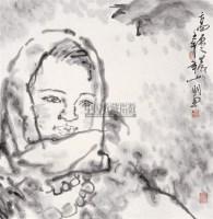 高原之晨 镜心 水墨纸本 - 吴山明 - 当代中国书画精品 - 2006年春季拍卖会 -收藏网