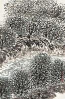 林间幽溪 镜心 设色纸本 - 10624 - 中国书画(一) - 2012迎春拍卖会 -收藏网