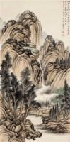秋堂听泉 立轴 设色纸本 -  - 中国书画 - 2011秋季拍卖会 -中国收藏网