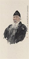 三百石富翁 镜框 设色纸本 - 129875 - 名家作品二 - 2011广州艺术博览会夏季名家作品拍卖会 -收藏网
