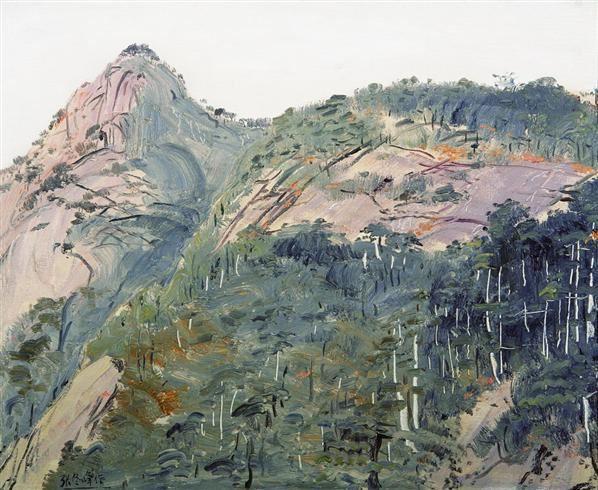 黄山松 布面 油画 - 126980 - 油画版画 - 2007太平洋秋季艺术精品拍卖会 -收藏网