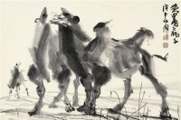 大漠风 镜片 水墨纸本 - 7693 - 中国书画(一) - 2011年秋季艺术品拍卖会 -中国收藏网