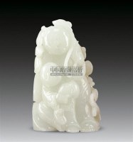 和田玉雕莲花童子摆件 -  - 中国瓷器、杂项 - 2011夏季艺术品拍卖会 -收藏网