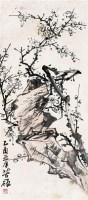 梅石图 框 设色纸本 - 李苦禅 - 中国书画 - 2005年艺术品拍卖会 -收藏网