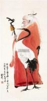 人物 立轴 纸本 -  - 中国书画 - 2011中国艺术品拍卖会 -收藏网