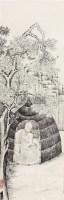 白描佛像 立轴 水墨纸本 -  - 中国书画(四) - 2011春季艺术品拍卖会 -中国收藏网