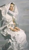 逝 布面油彩 - 140903 - 中国油画(一) - 2006年中国艺术品春季拍卖会 -收藏网