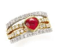 红宝石 钻石戒指 -  - 珠宝翡翠专场 - 2011秋季伊斯特东京拍卖会 -收藏网