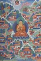 近代 释迦牟尼佛唐卡 -  - 妙音天籁-佛教艺术品 - 2006年秋(十周年)拍卖会 -收藏网