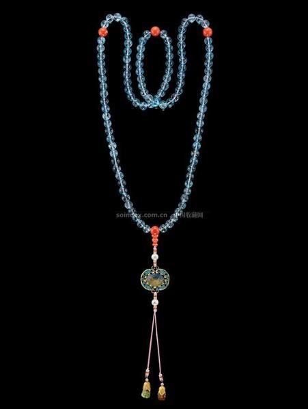 珊瑚碧玺朝珠 -  - 中国瓷器工艺品 - 2009秋季拍卖会(一) -收藏网