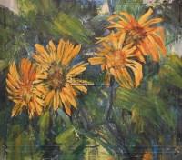 花卉 布面油画 - 116723 - 老油画·中国书画·新钢笔画 - 2011春季艺术品拍卖会 -收藏网