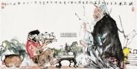 调茶图 镜心 设色纸本 - 119573 - 当代中国画名家专场 - 2011秋季艺术品拍卖会 -中国收藏网