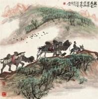 驼铃 镜片 设色纸本 - 134253 - 中国书画二 - 2011年秋季拍卖会 -收藏网