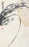 兰草图 立轴 设色纸本 - 萧龙士 - 书画杂件 - 2007迎春文物艺术品拍卖会 -收藏网