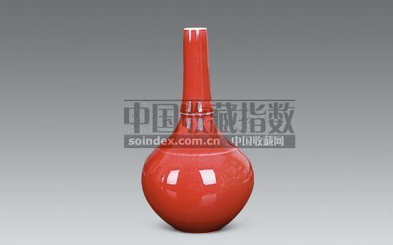 豇豆红锥把瓶 -  - 瓷玉珍玩 - 2008秋季艺术品拍卖会 -收藏网