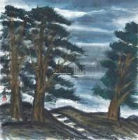 风景 镜片 设色纸本 - 林风眠 - 中国书画(二) - 2011夏拍艺术品拍卖会 -收藏网