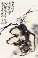 兰石图 立轴 纸本 - 119597 - 保真作品专题 - 2011春季书画拍卖会 -收藏网