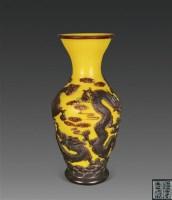 套料云龙纹瓶 -  - 瓷器、玉器、杂项 - 2012年台湾艺术品专场拍卖会 -收藏网
