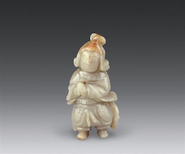 明 玉雕红运当头韦陀像 -  - 古董珍玩(二) - 2006秋季艺术珍品拍卖会 -收藏网