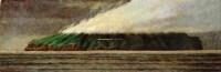 返花途中.雨后的龟山岛II 卵彩 油彩 亚麻布 - 叶子奇 - 亚洲现代与当代艺术 - 台北2011秋季拍卖会 -收藏网