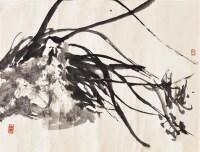 兰石图 镜心 设色纸本 - 4555 - 中国书画三 - 2011首届大型书画精品拍卖会 -收藏网
