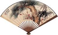 岁寒君子并行书 成扇 设色纸本 - 符铸 - 中国成扇与扇面 - 2005秋季艺术品拍卖会 -收藏网