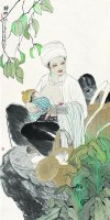 静晌 镜心 设色纸本 - 128873 - 中国书画 - 2007春季中国书画拍卖会 -中国收藏网